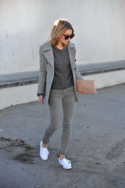 19fff9400c 16 Cool Outfits With Grey Skinny Jeans For This Fall  Styleoholic waysify