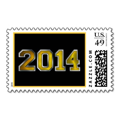 Black and Gold Tone 2014 Celebration Stamp Wanna make each letter - celebration letter