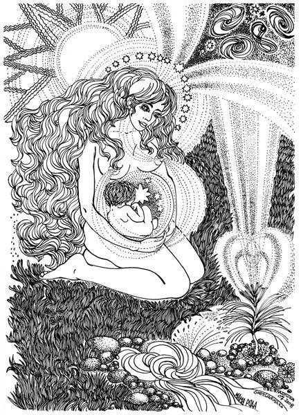 Ode To Motherhood By Svetlana Sablina Desenhos Desenhos Para