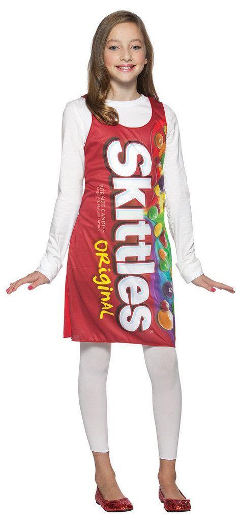 Skittles Tank Dress Tween Teen Costume Teen Costumes