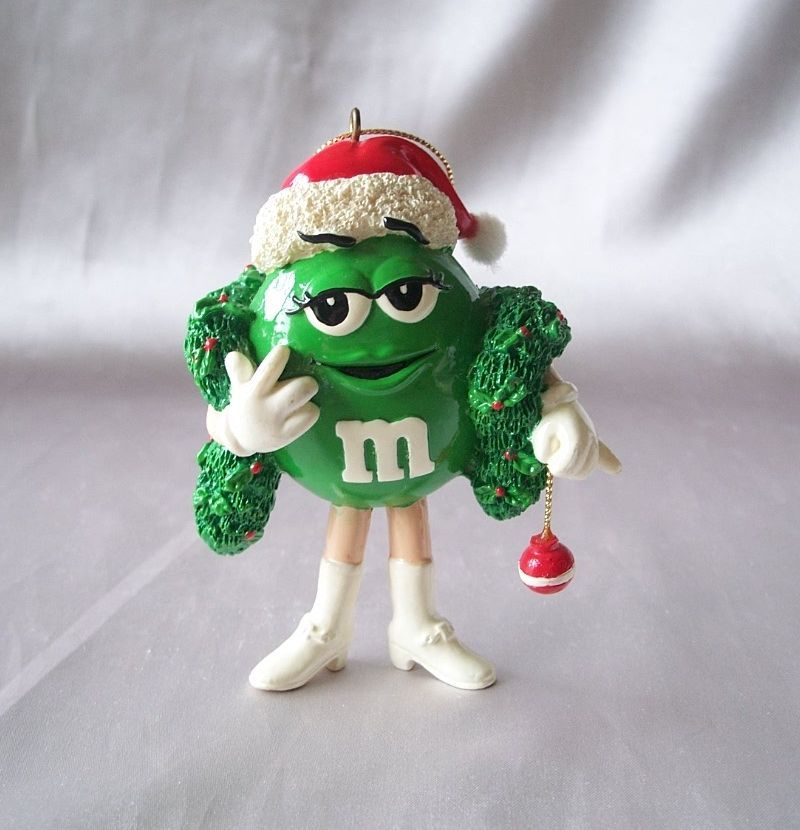 M & M Candy Character Christmas Ornament
