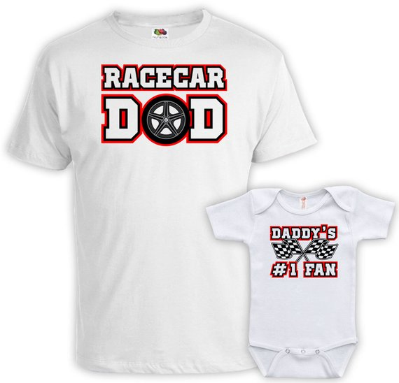 Father Son Matching Shirt Father And Baby Shirt Father And Daughter Gift For New Dad T Shirt Racecar