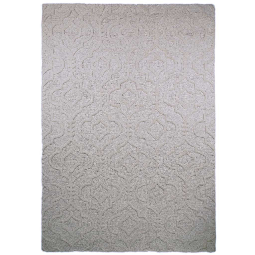 Rugs - Cream Marrakech Moorish Rug - Hutsly. Inspired by the beautifully intricate moroccan patterns, the Marrekch rug features an incredible 3D carved effect that will give a touch of luxury to your room!