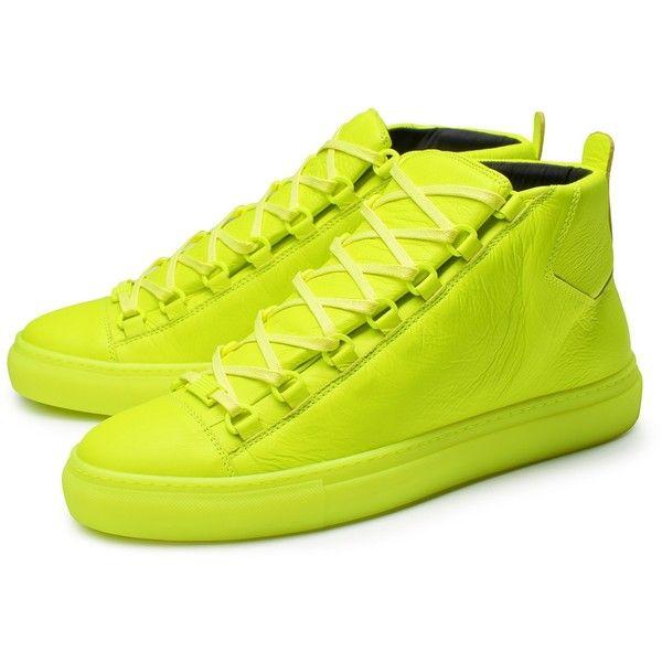 neon yellow balenciaga sneakers
