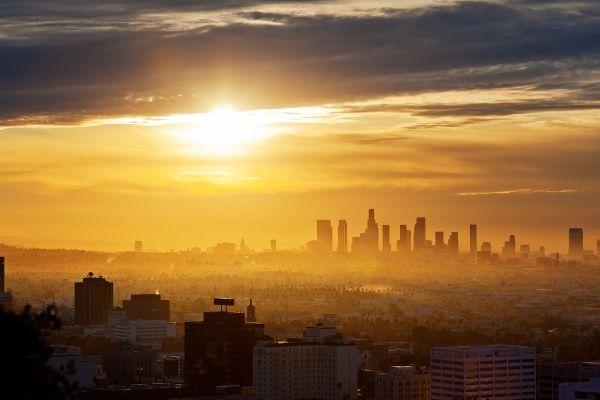 Los Angeles Cityscape at Sunrise
