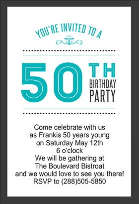 5 Best Images Of 50th Birthday Invitations Free Printable