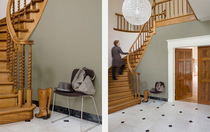 Een hal met accenten in hout decoration pinterest hout kleur en met - Deco hal binnenkomst huis ...