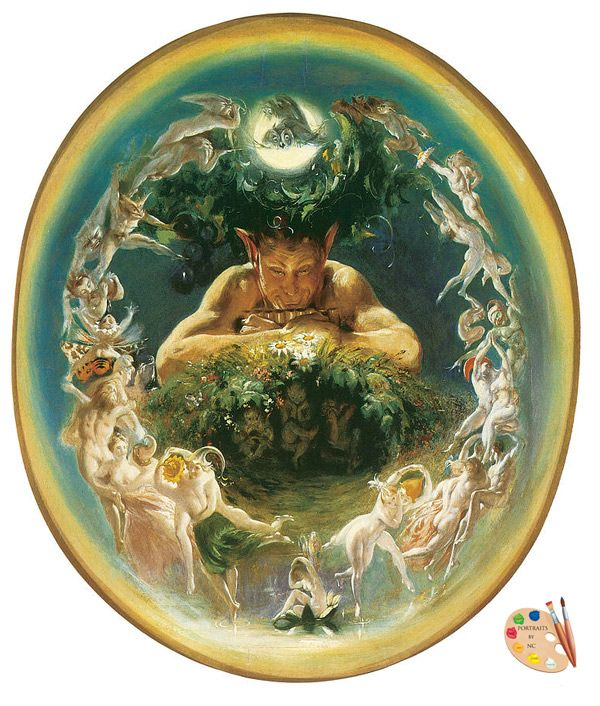 The Faun and the Fairies by Daniel Maclise #Victorian #art #painting