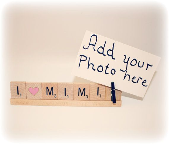 Love Mimi, Mimi, Mimi Gift, Card Holder, Mom Photo, Mom Photo Holder ...