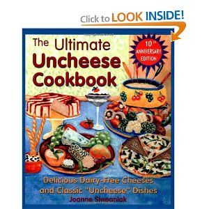 """This is a must-have for any former cheese lover! My favorite recipe is the Parmesan Sprinkles! So easy!  The Ultimate Uncheese Cookbook: Delicious Dairy-Free Cheeses and Classic """"Uncheese"""" Dishes: Jo Stepaniak: 9781570671517: Amazon.com: Books"""