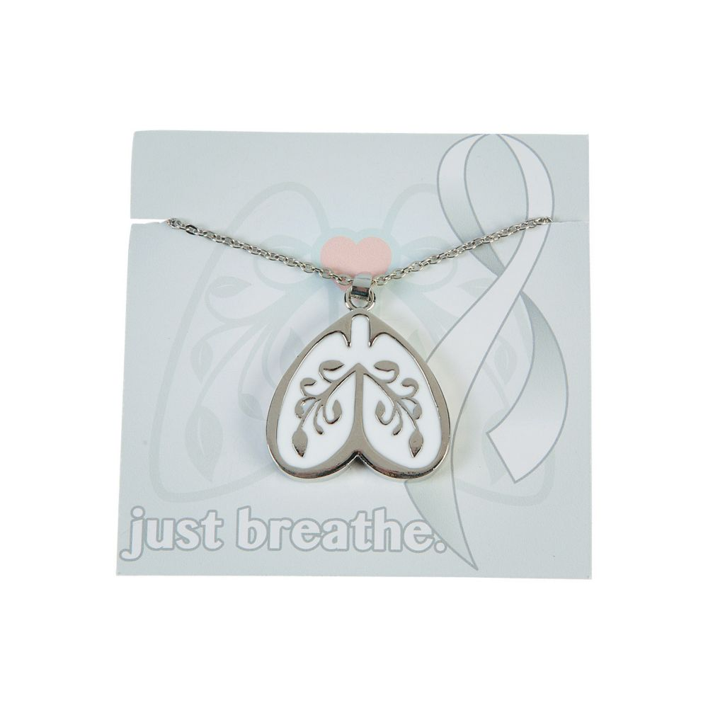 Lung Cancer Awareness Necklaces with Card