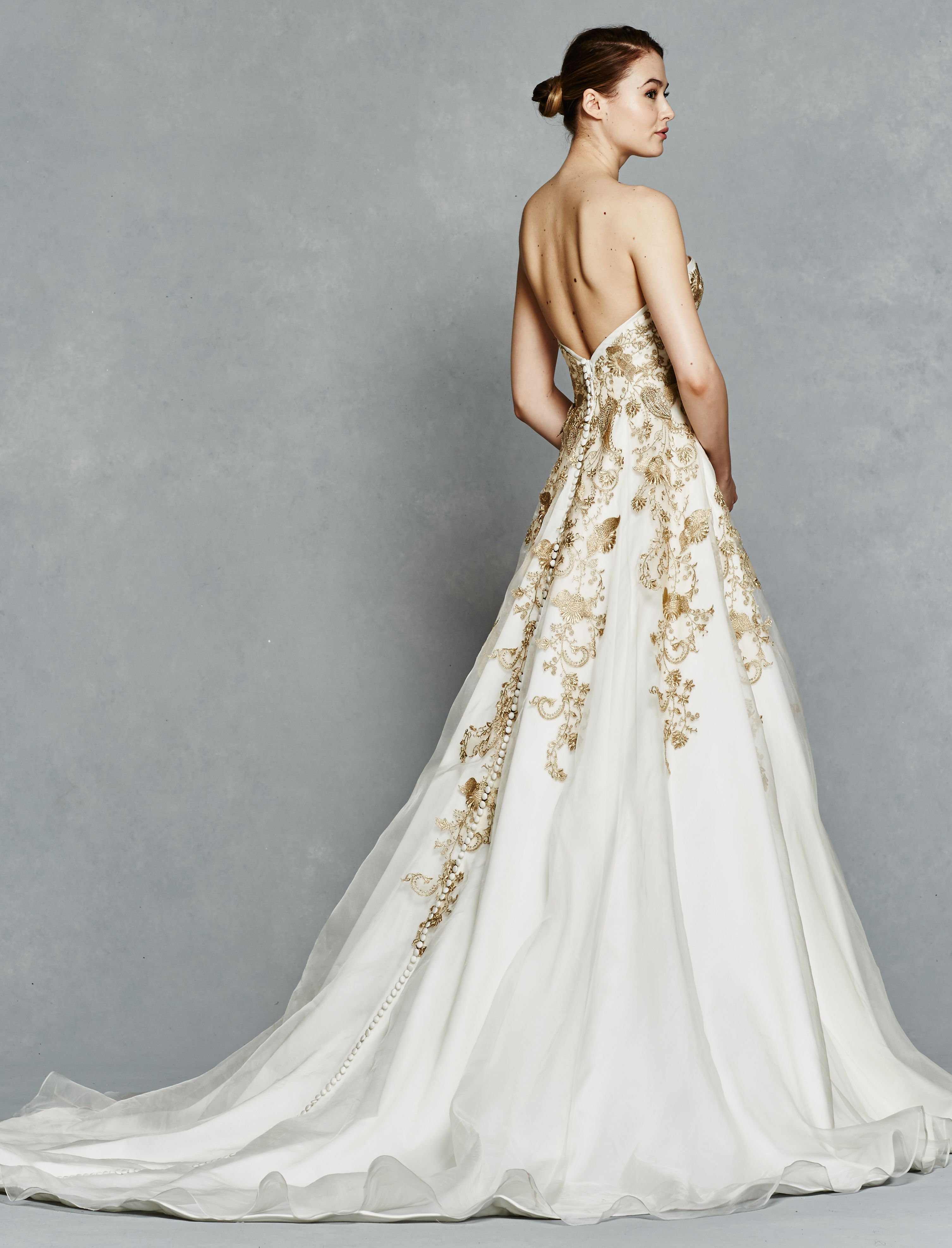 4676467ff Gold lace wedding dress with metallic embellishments (also available in  Ivory!) | '