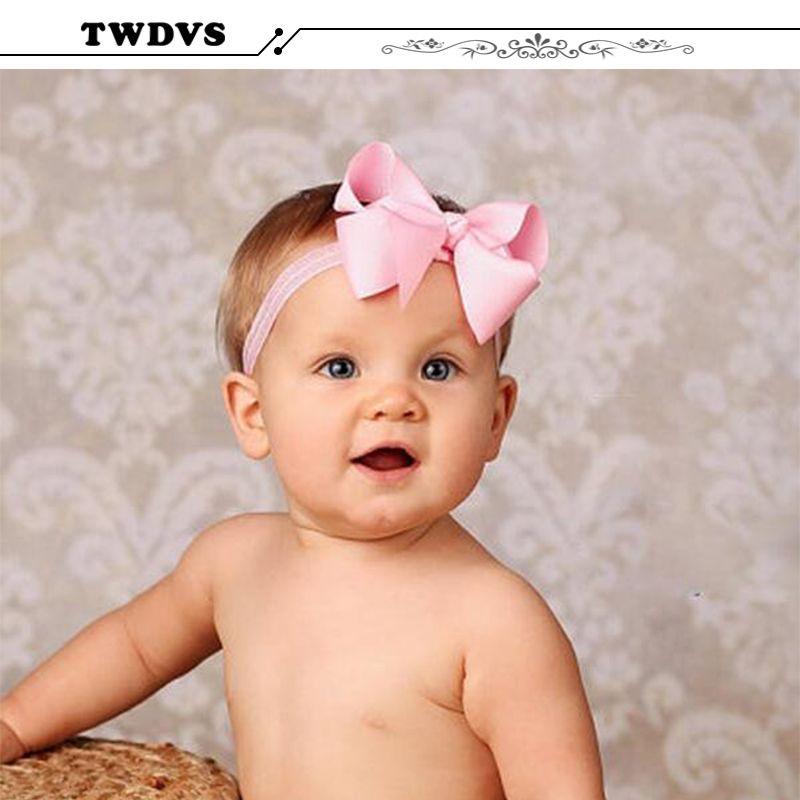 TWDVS Bebé Diadema Diadema Para el Pelo Del Bowknot de Las Vendas Infantil Accesorios para el Cabello Girls grosgrain Arco de la cinta hairband Diadema Niño W116