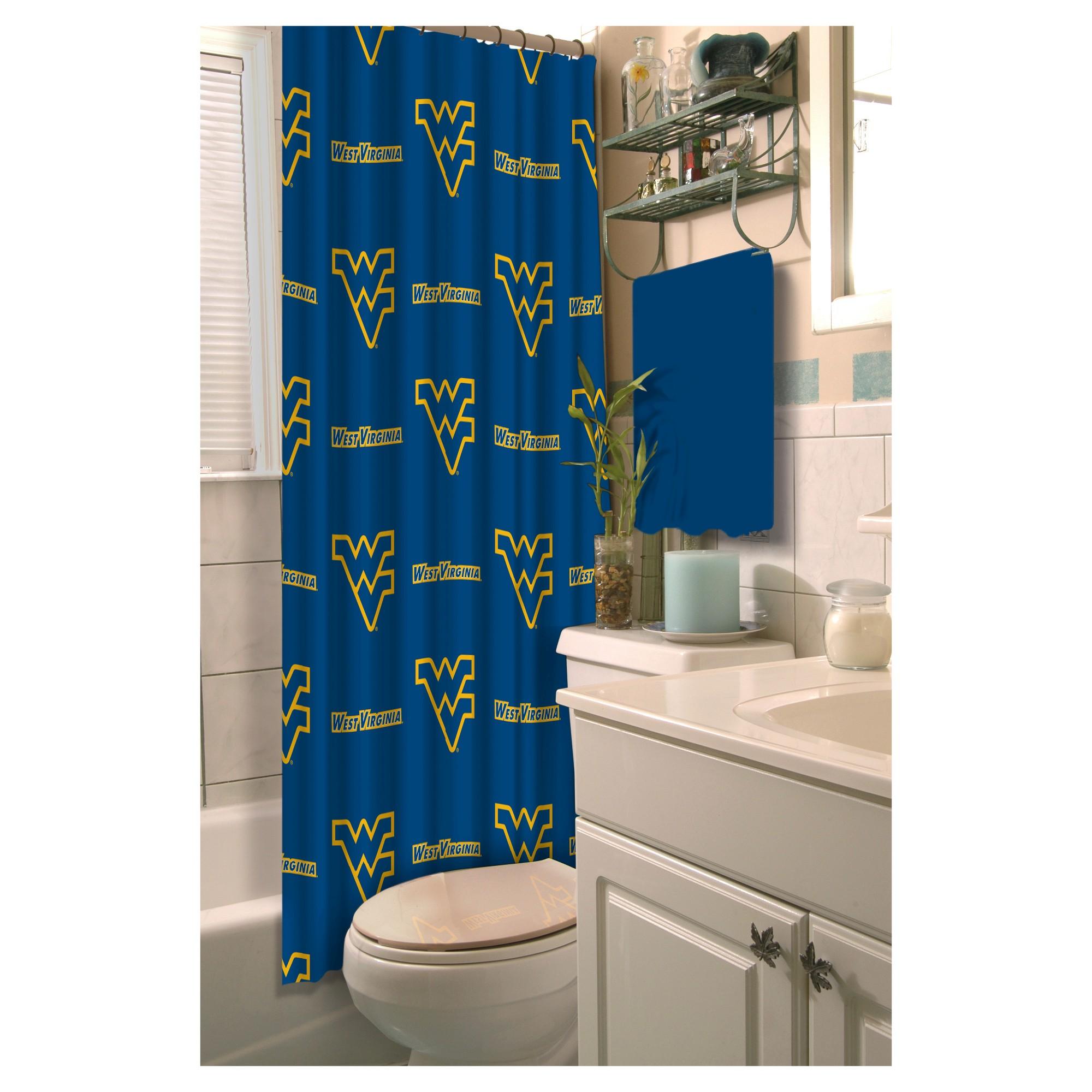 Ncaawest Virginia Mountaineers Shower Curtain West Virginia