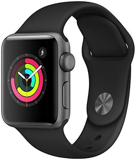 Apple Watch Series 3 Gps 38mm Space Gray Aluminium Case With Black Sport Band In 2020 Smart Watch Apple Apple Watch Best Apple Watch