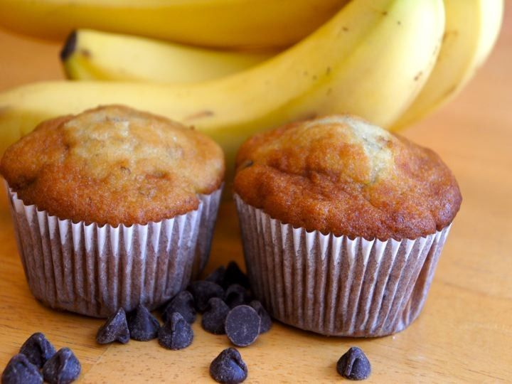 Banana Chocolate Chip Muffins-The Fit Baker