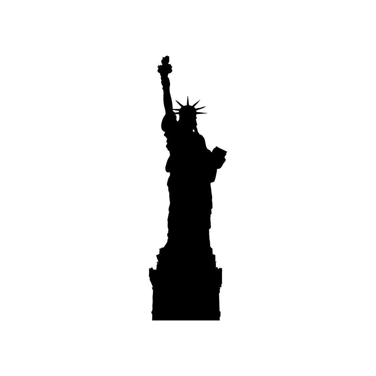 Black And White Statue Of Liberty Silhouette