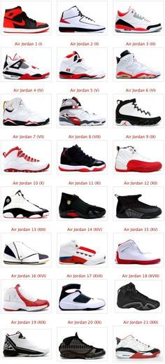 all type of jordans shoes