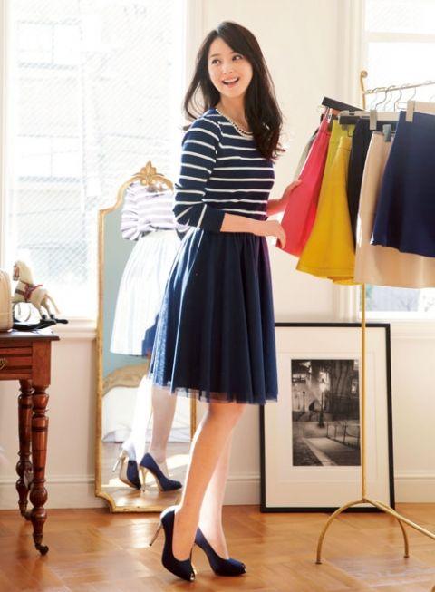 人気のチュールスカートはレトロに転ばせるのが気分   ファッション コーディネート   with online on ウーマンエキサイト
