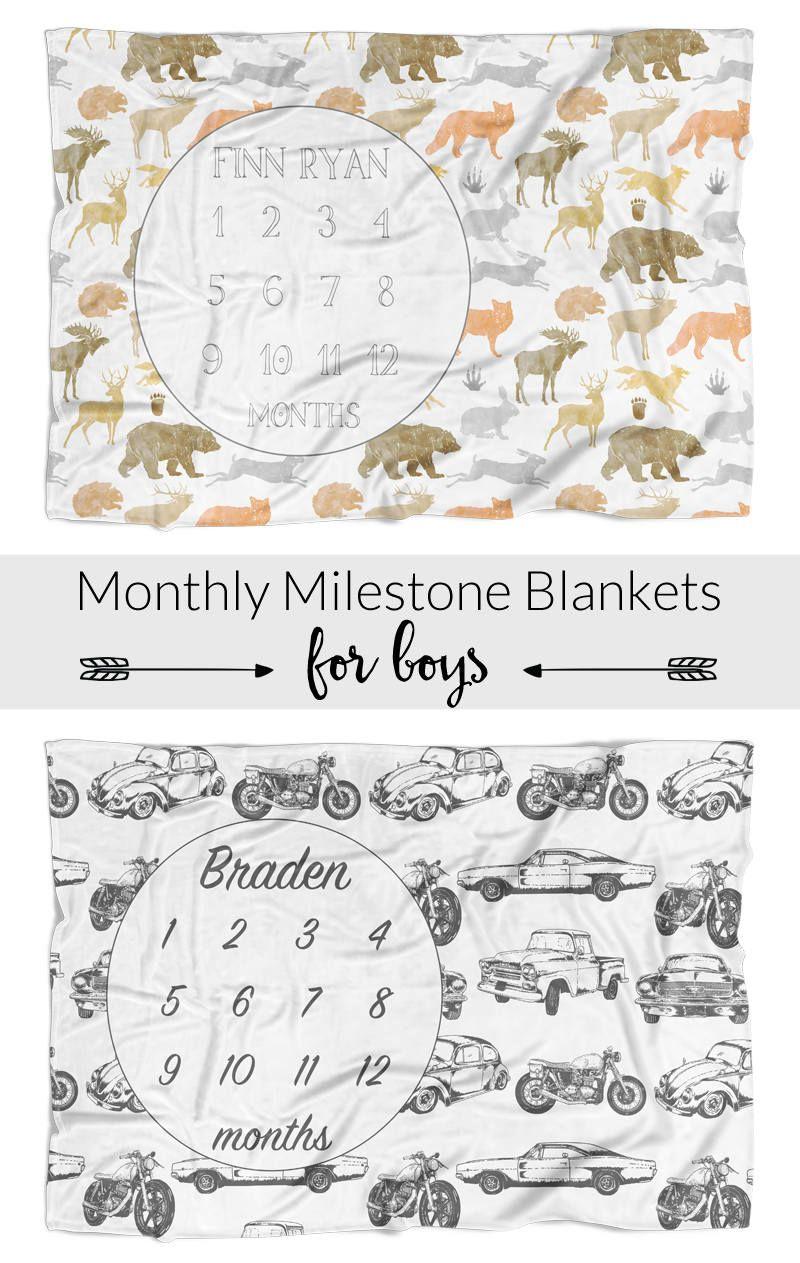Personalized Baby Blanket ~ Deer Blanket ~ Monogram Blanket ~ Fox Blanket ~ Photo Prop ~ Name Blanket