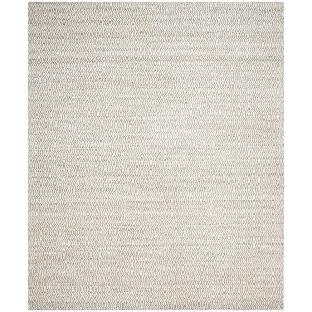 Kilim Ivory/Graphite (Ivory/Grey) 8 ft. x 10 ft. Area Rug