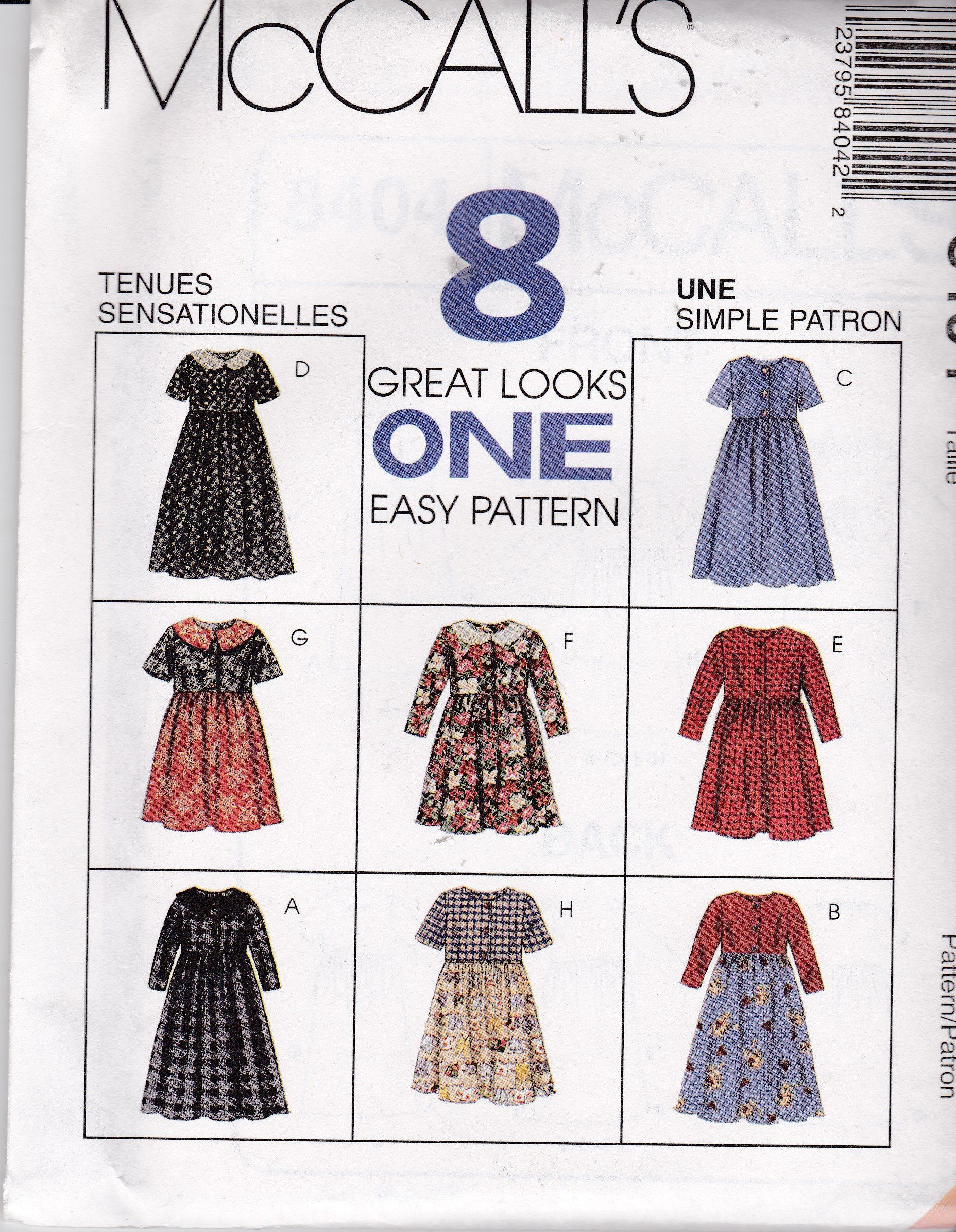 Vintage new u uncut simple easy mccalls looks in pattern