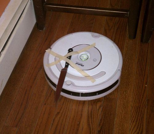 "Improvised ""Home Security System"" #roomba"