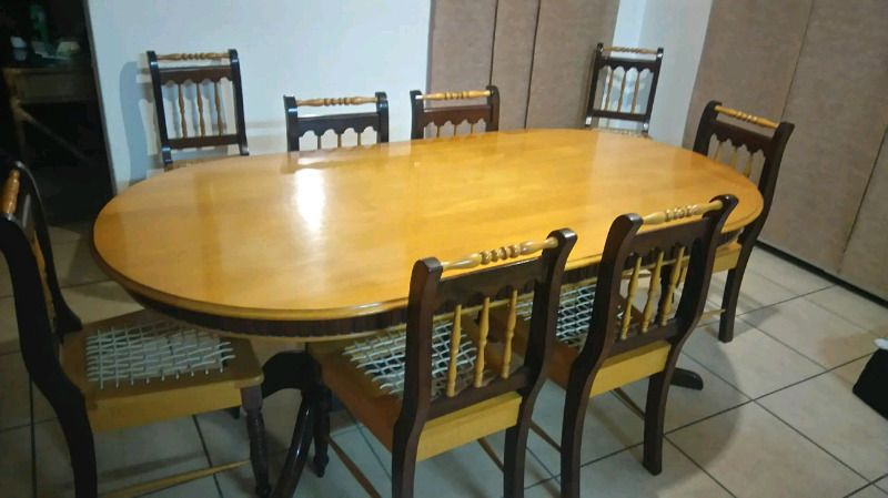 Imbuia And Yellow Wood Dining Room Set Wood Dining Room Set