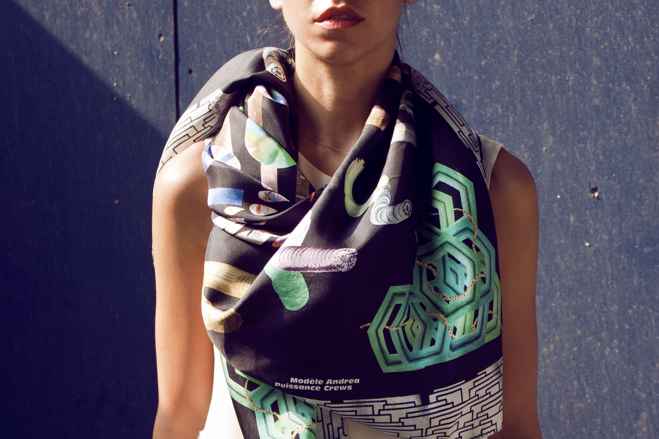 Fancy - Andrea Crews Modele Puissance Green Scarf