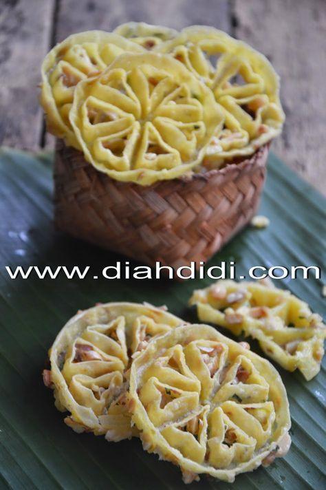 Diah Didi S Kitchen Rempeyek Kembang Goyang Makanan Resep Resep Masakan