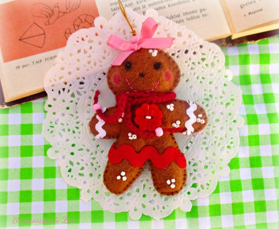 Sweet Felt Gingerbread Couple, Gingerbread Family, Our First ...