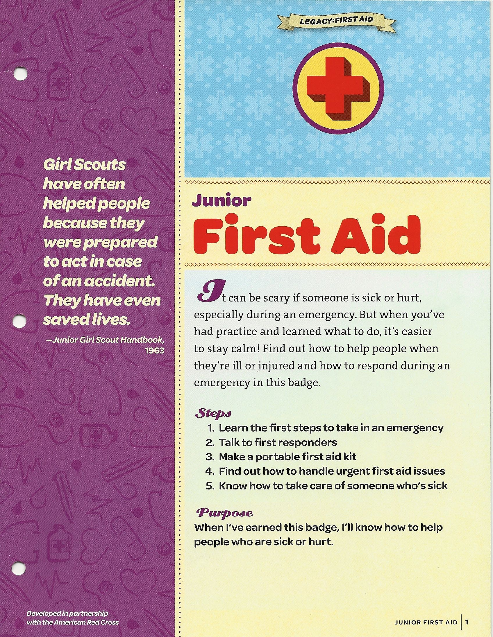Pin By A Scout Is On Junior Gs First Aid Badge