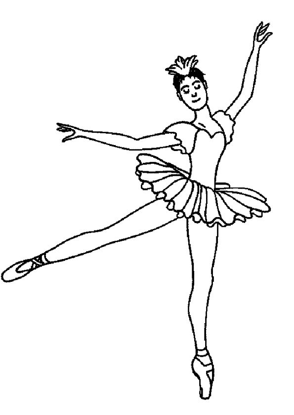 Kleurplaat Dansen 7617 Coloriage Dessin Danseuse Danseuse Classique