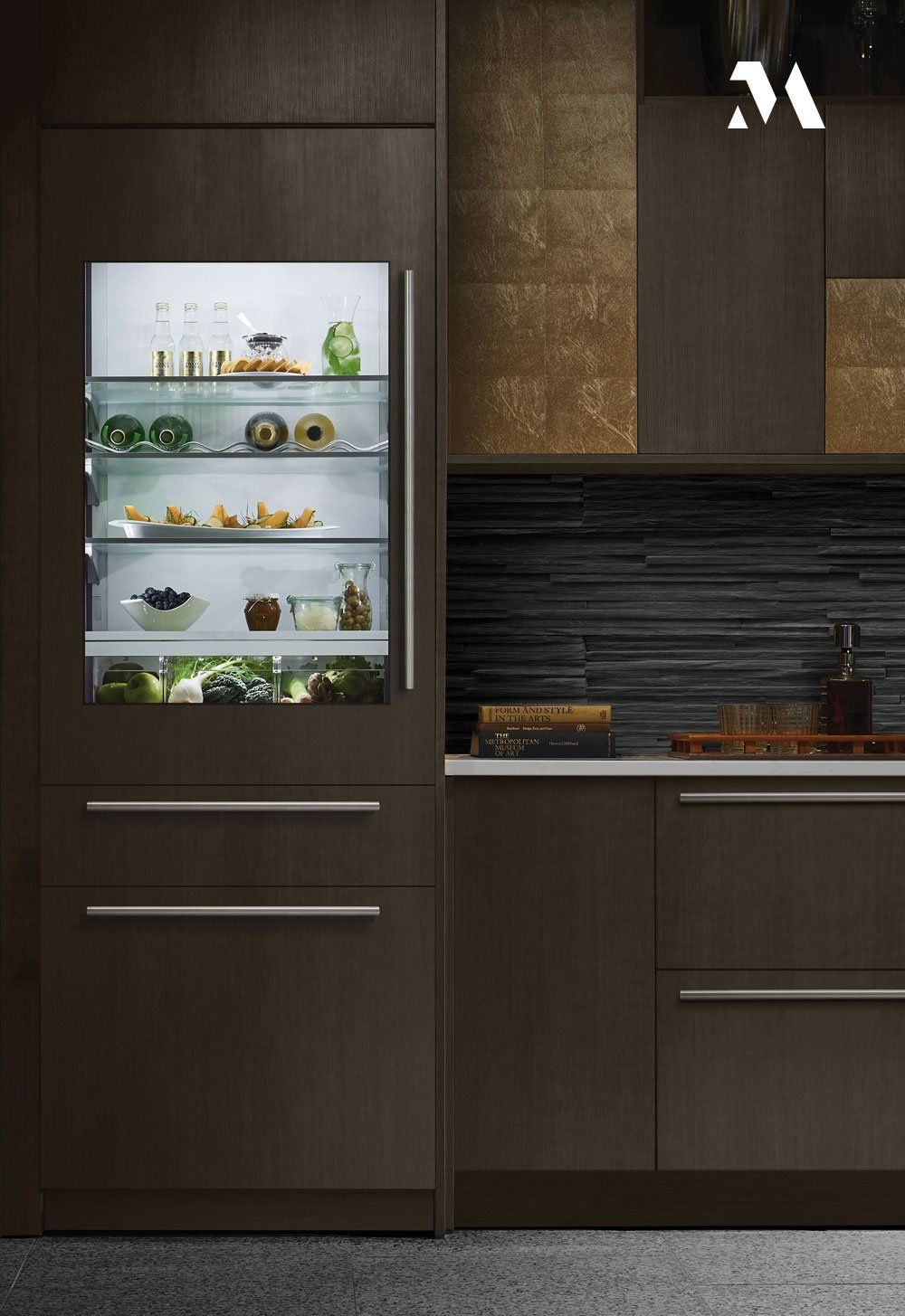 The Laurel Canyon Kitchen Reflects The Exacting Attention To Detail That Epitomizes The Monogram Bran In 2020 Professional Kitchen Appliances Kitchen Terrazzo Flooring