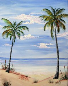 Large Beach Scene Painting Fine Art Print