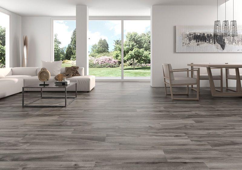 Pavimento imitaci n madera antideslizante color gris life for Azulejo de parquet negro imitacion