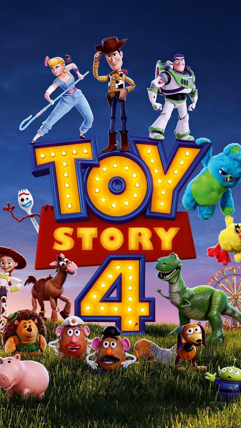 Toy Story 4 (2019) Phone Wallpaper Disney movie posters