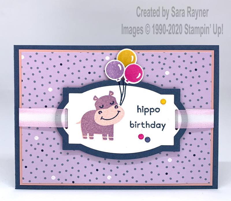 Hippo Birthday Card Sara S Crafting And Stamping Studio Birthday Cards Cards Stampin Up Cards