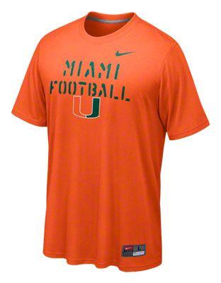 697cd726501 Orange Nike dri-FIT football shirt. Orange Nike dri-FIT football shirt  Miami Hurricanes ...