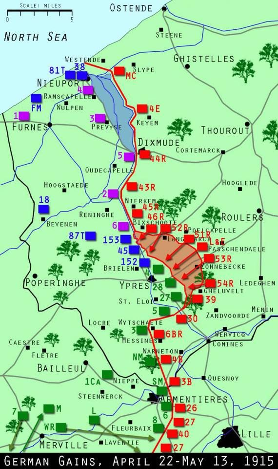 An overview of the battles to date Ypres 1915 Second Battle of - fresh germany map after world war 1