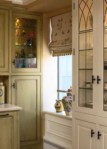 Leaded Gl Kitchen Cabinets