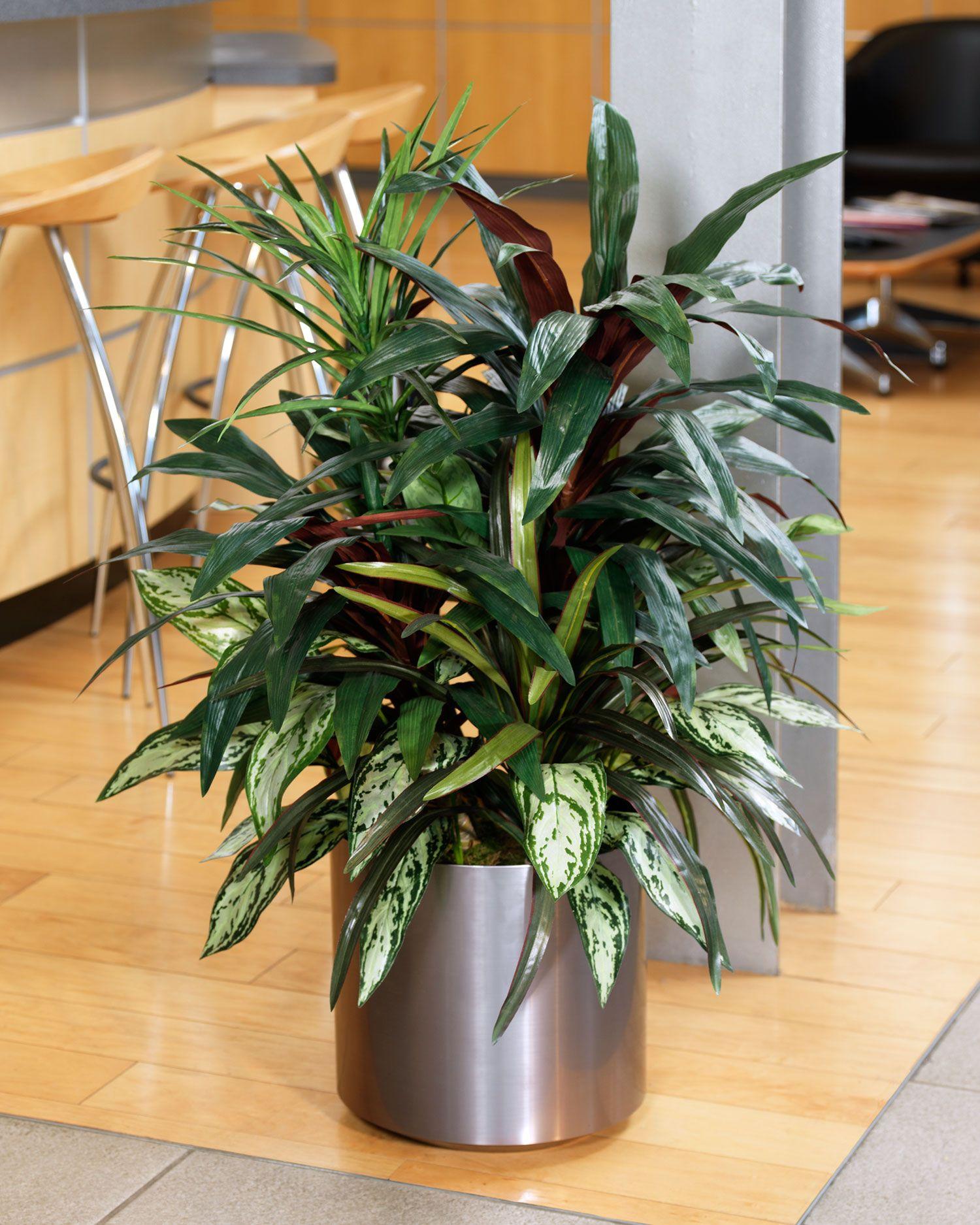 Mixed Silk Dracaena Plant Artificial