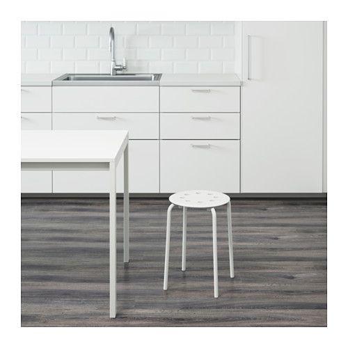 MARIUS Stool  - IKEA $4.99, plain white stool perfect for a DIY project