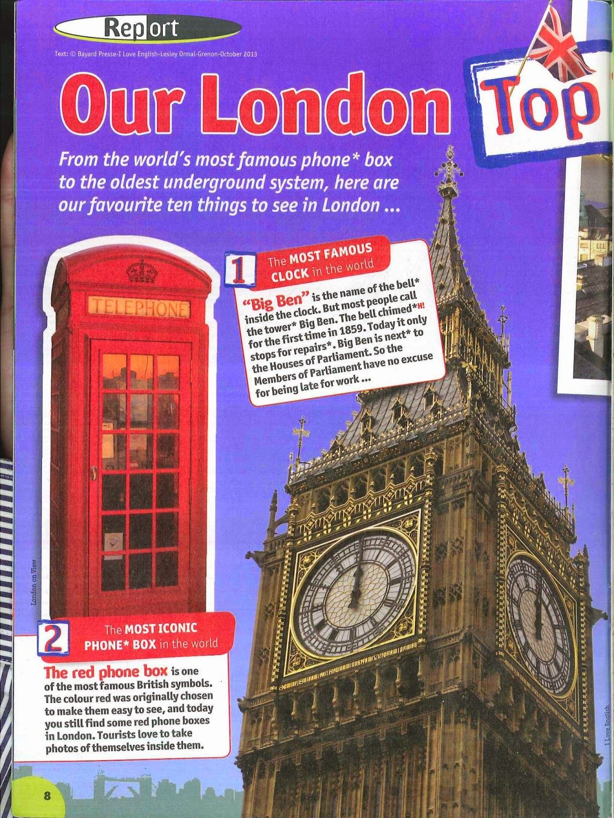 A lesson plan 10 things to see in London