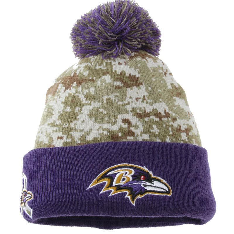 d4383e5c Baltimore Ravens New Era Youth On Field Sport Salute to Service Knit ...