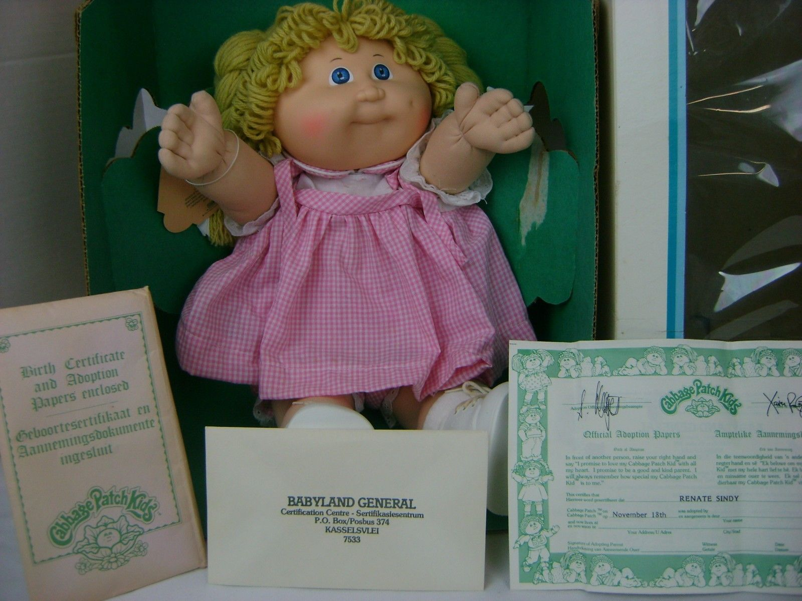 Vintage 1985 Coleco Cabbage Patch Kids Girl Doll In Box With Birth Certificate Ebay Cabbage Patch Kids Patch Kids Kids