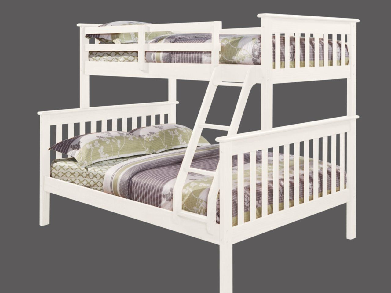 Best Solid Wood White Twin Over Full Bunk Bed Price Drop Alert 640 x 480