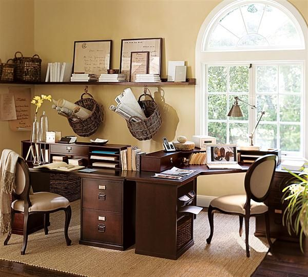 Brown Ideas - A Comfortable Home Office Complete with Office System