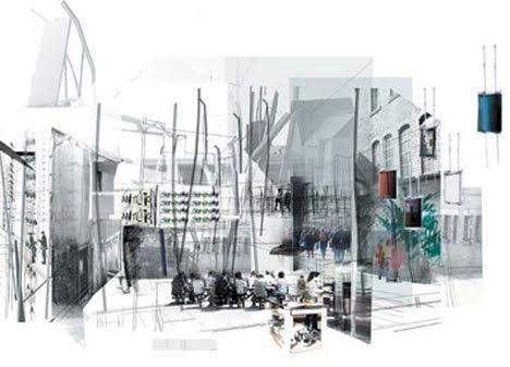 Architectural collages google search drawings for Experiential design sydney