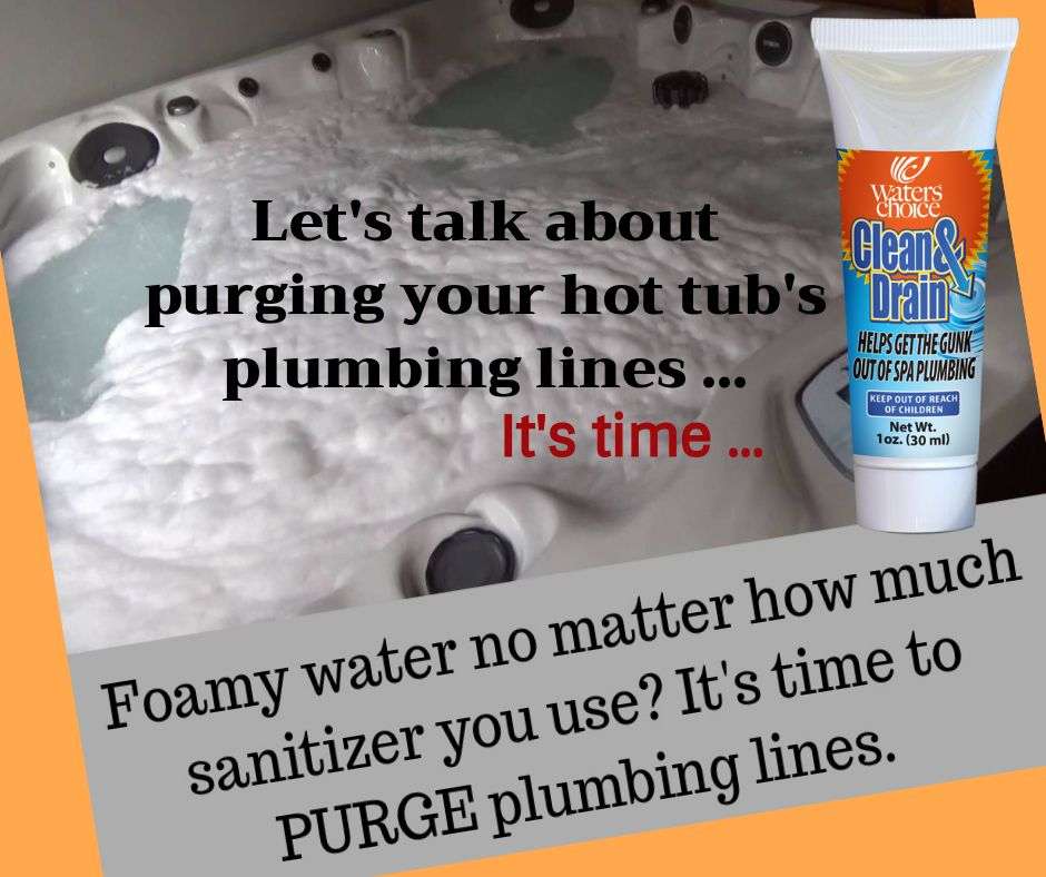 Gunk in your spa plumbing spa pool cleaning drain cleaner